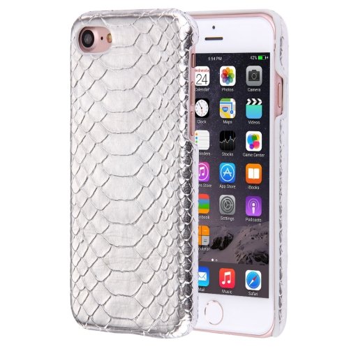 Buy For iPhone 8 & 7 Snakeskin Texture Paste Skin PC Protective Case, Silver for $1.48 in SUNSKY store