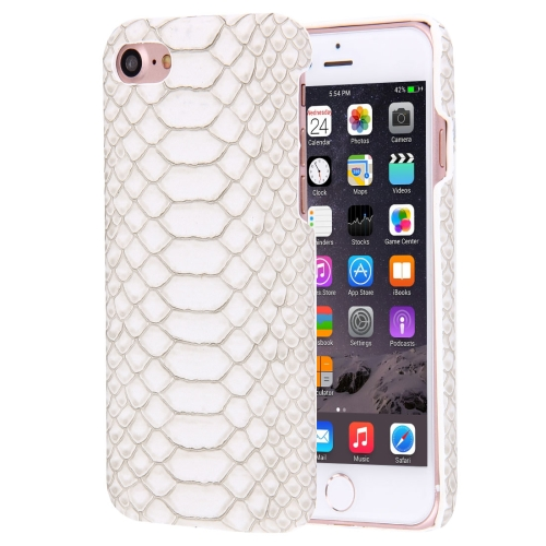 Buy For iPhone 8 & 7 Snakeskin Texture Paste Skin PC Protective Case, White for $1.48 in SUNSKY store