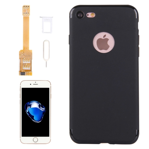Kumishi for iPhone 7 2 in 1 Dual SIM Card Adapter + TPU Back Case Cover with SIM Card Tray / SIM Card Pin