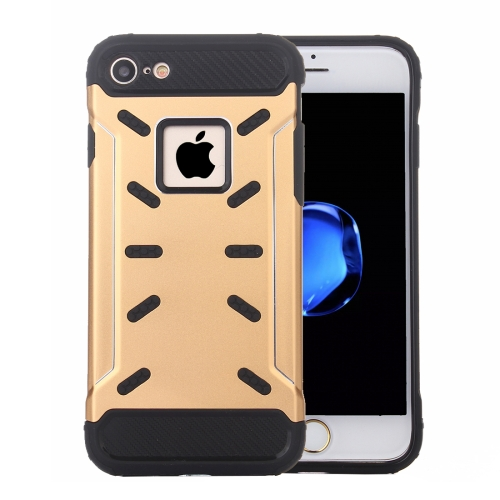 Buy For iPhone 8 & 7 Shock-Resistant Iron Man Aluminum Alloy + TPU Combination Case, Gold for $2.27 in SUNSKY store
