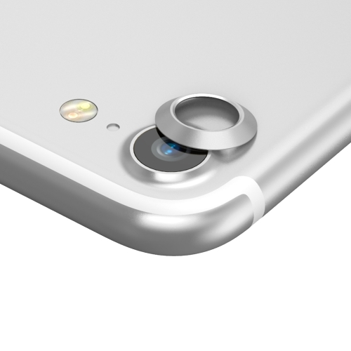 Buy Baseus for iPhone 7 Rear Camera Lens Metal Protection Cover, Silver for $1.36 in SUNSKY store