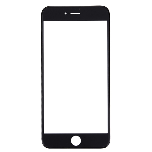 Front Screen Outer Glass Lens with Front LCD Screen Bezel Frame for iPhone 7 (Black)