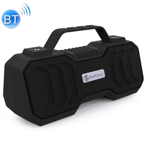 NewRixing NR-4500 Portable Wireless Bluetooth Stereo Speaker Support TWS / FM Function Speaker (Black)