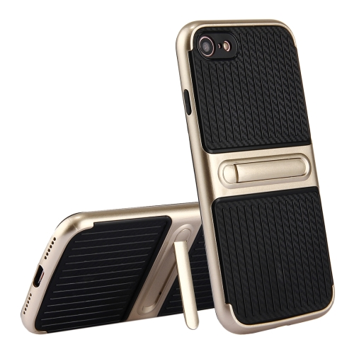 Buy For iPhone 8 & 7 Trunk Shape TPU+ABS Oil Spout Craft Combination Protective Case with Holder, Gold for $2.00 in SUNSKY store