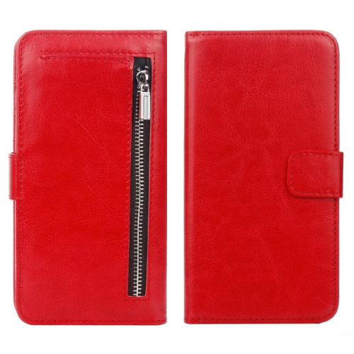 Buy For iPhone 8 & 7 Separable Crazy Horse Texture Zipper Wallet Style Flip Leather Case, Red for $4.68 in SUNSKY store