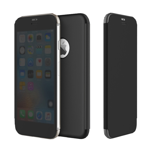 Buy Rock Dr.V Series for iPhone 8 Business Style Ultrathin Flip Protective Case with Visible Front Cover & Call Display ID, Black for $7.31 in SUNSKY store