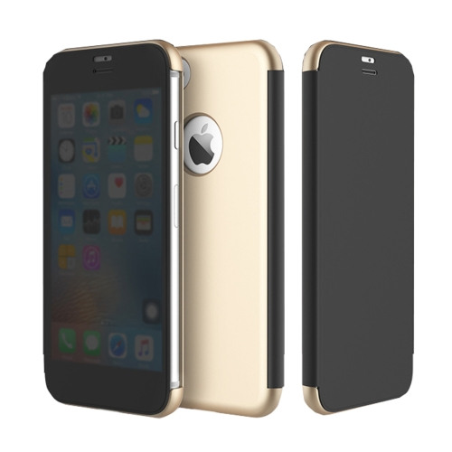 Buy Rock Dr.V Series for iPhone 8 Business Style Ultrathin Flip Protective Case with Visible Front Cover & Call Display ID, Gold for $7.31 in SUNSKY store