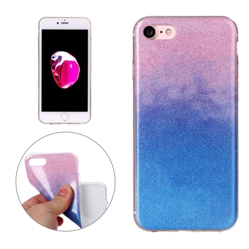Buy For iPhone 8 & 7 Glitter Powder Soft TPU Protective Cover Case (Pink Blue) for $1.41 in SUNSKY store