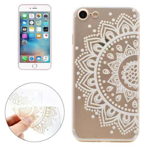 Buy For iPhone 8 & 7 Painting Half Flowers Pattern Transparent Soft TPU Protective Case for $1.11 in SUNSKY store