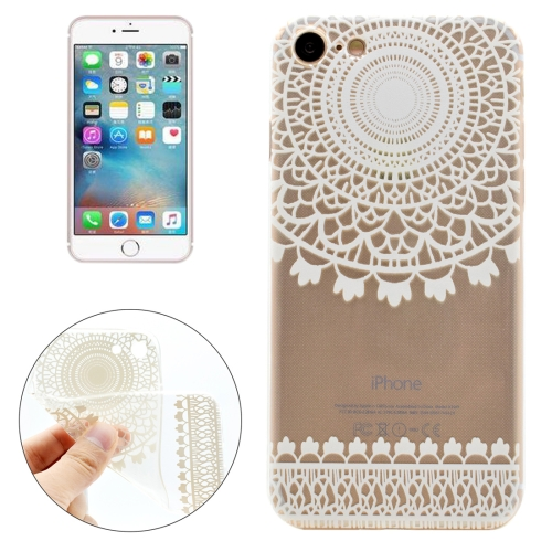 Buy For iPhone 8 & 7 Painting Cylindrical Flowers Pattern Transparent Soft TPU Protective Case for $1.11 in SUNSKY store