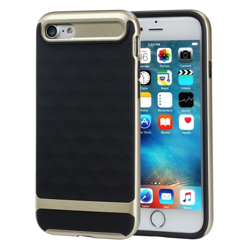 Buy For iPhone 8 & 7 3D Diamond PC + TPU Combination Protective Case (Black + Gold) for $2.03 in SUNSKY store