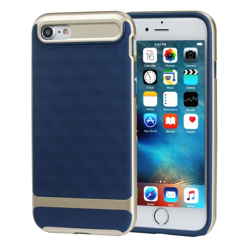 Buy For iPhone 8 & 7 3D Diamond PC + TPU Combination Protective Case (Dark Blue + Gold) for $2.03 in SUNSKY store