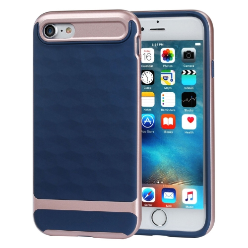 Buy For iPhone 8 & 7 3D Diamond PC + TPU Combination Protective Case (Dark Blue + Rose Gold) for $2.03 in SUNSKY store