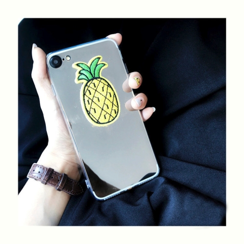 Buy For iPhone 8 & 7 Mirror Embroidery Pineapple Pattern Protective Back Cover Case for $2.66 in SUNSKY store