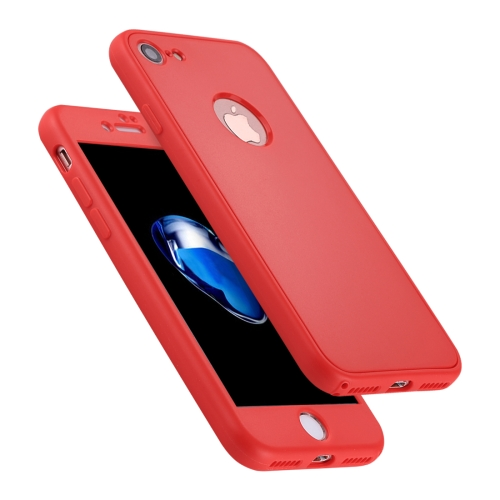 Buy For iPhone 8 & 7 Stylish Lightweight 360 Degree Shockproof Detachable TPU + PC Combination Protective Case, Red for $2.02 in SUNSKY store