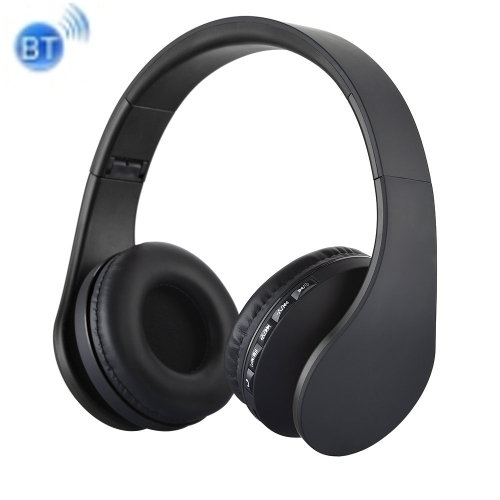 BTH-811 Folding Stereo Wireless Bluetooth Headphone Headset with MP3 Player FM Radio, for Xiaomi, iPhone, iPad, iPod, Samsung, HTC, Sony, Huawei and Other Audio Devices(Black) leory 5 in 1 multifunctions wireless headphone fm radio headset hifi monitor dj mic for pc tv dvd audio mobile voice chating