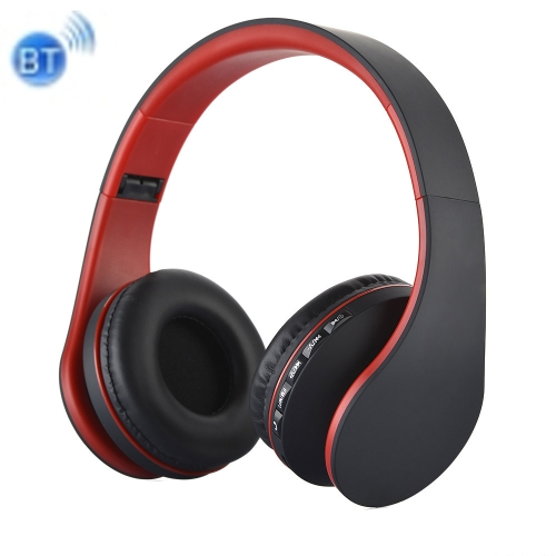 BTH-811 Folding Stereo Wireless Bluetooth Headphone Headset with MP3 Player FM Radio, for Xiaomi, iPhone, iPad, iPod, Samsung, HTC, Sony, Huawei and Other Audio Devices(Red) leory 5 in 1 multifunctions wireless headphone fm radio headset hifi monitor dj mic for pc tv dvd audio mobile voice chating