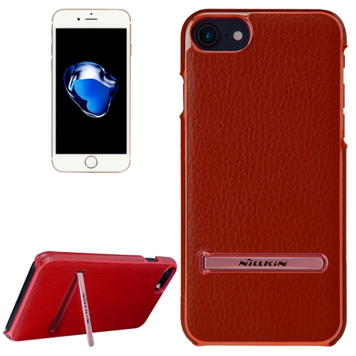 Buy NILLKIN M-JARL Series Case for iPhone 8 & 7 Business Style Litchi Texture Leather Surface PC Protective Case Back Cover with Metal Holder, Red for $7.15 in SUNSKY store