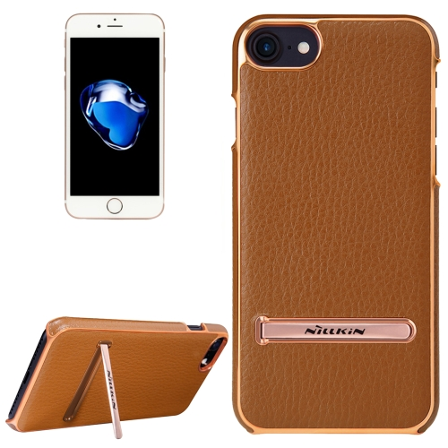 Buy NILLKIN M-JARL Series Case for iPhone 8 & 7 Business Style Litchi Texture Leather Surface PC Protective Case Back Cover with Metal Holder, Brown for $7.15 in SUNSKY store