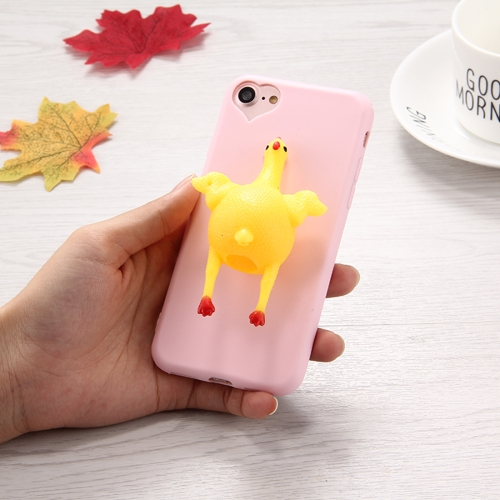 Buy For iPhone 8 & 7 3D Chicken Pattern Squeeze Relief Squishy Dropproof Protective Back Cover Case for $1.40 in SUNSKY store