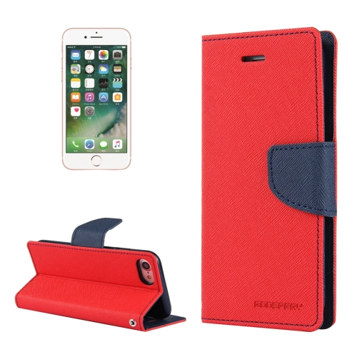 Buy MERCURY GOOSPERY FANCY DIARY for iPhone 8 & 7 Cross Texture Horizontal Flip Leather Case with Card Slots & Wallet & Holder, Red for $3.44 in SUNSKY store