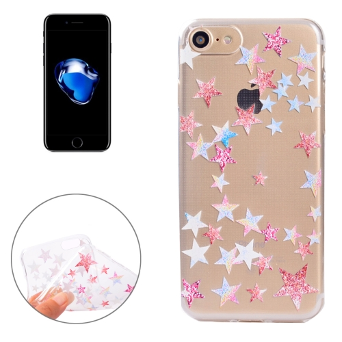 Buy For iPhone 8 & 7 Colorful Stars Pattern Soft TPU Protective Case for $1.11 in SUNSKY store