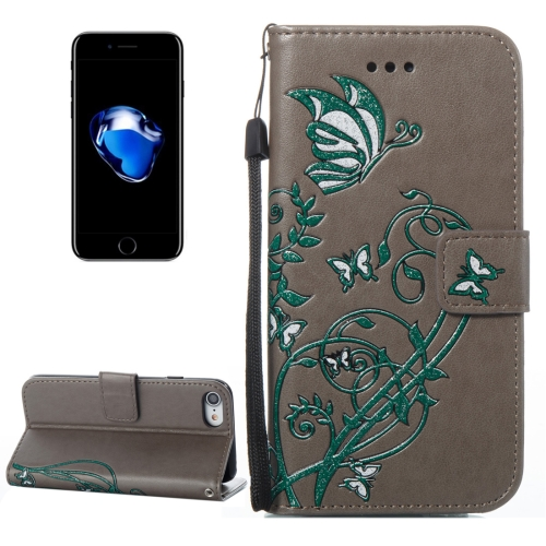 Buy For iPhone 8 & 7 Voltage Crazy Horse Texture Horizontal Flip Leather Case with Holder & Card Slots & Wallet & Lanyard, Grey for $2.54 in SUNSKY store