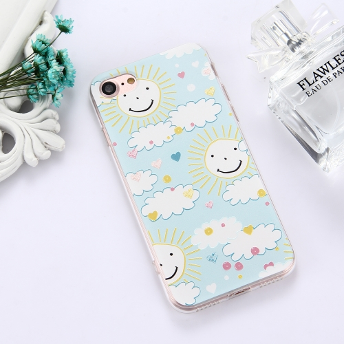 Buy For iPhone 8 & 7 TPU Embossed Smiling Face Sun Pattern Dropproof Protective Case Back Cover for $1.56 in SUNSKY store