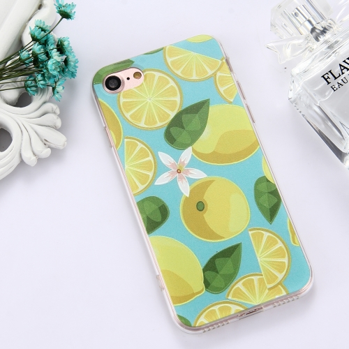Buy For iPhone 8 & 7 TPU Embossed Lemon Pattern Dropproof Protective Case Back Cover for $1.54 in SUNSKY store