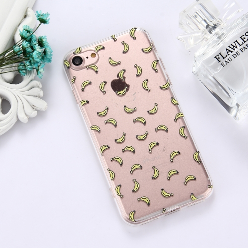Buy For iPhone 8 & 7 TPU Embossed Banana Pattern Dropproof Protective Case Back Cover for $1.48 in SUNSKY store
