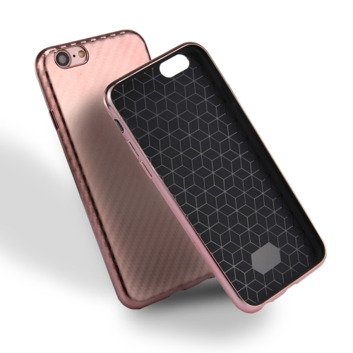 Buy For iPhone 8 & 7 Artistic Carbon Fibre Texture Soft TPU Protective Case Back Cover (Rose Gold) for $2.01 in SUNSKY store