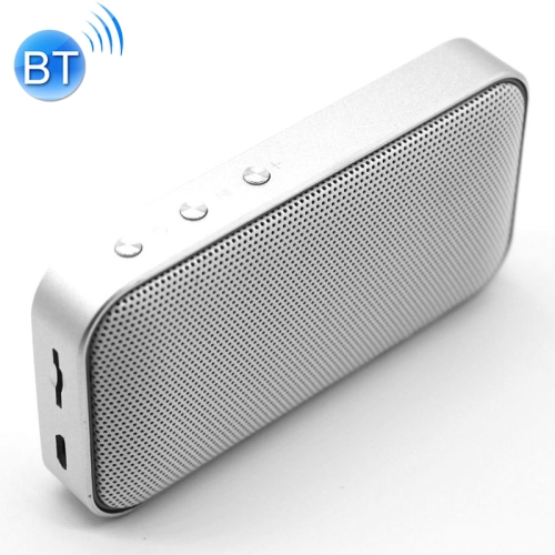 BT209 Outdoor Portable Ultra-thin Mini Wireless Bluetooth Speaker, Support TF Card & Hands-free Calling (Silver)