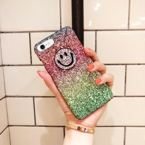 Buy For iPhone 8 & 7 Glitter Powder Gradient Rainbow Smiling Face Protective Back Cover Case for $2.65 in SUNSKY store