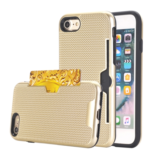 Buy For iPhone 8 & 7 Dream Network Dropproof Protective Back Cover Case with Card Slots, Gold for $2.15 in SUNSKY store