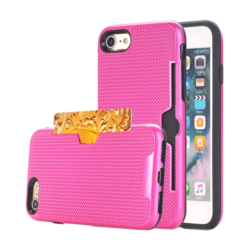Buy For iPhone 8 & 7 Dream Network Dropproof Protective Back Cover Case with Card Slots, Magenta for $2.17 in SUNSKY store