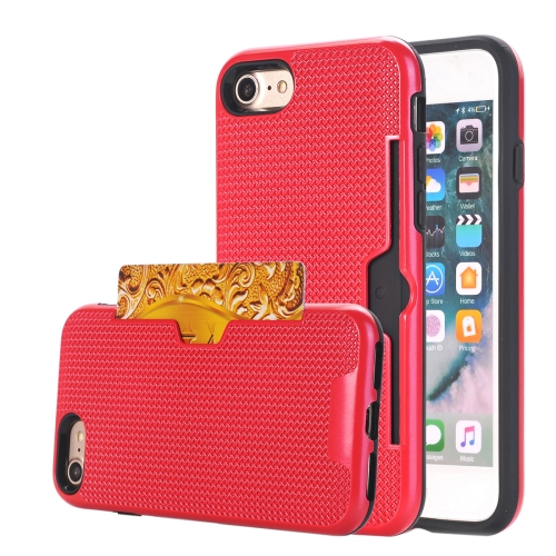 Buy For iPhone 8 & 7 Dream Network Dropproof Protective Back Cover Case with Card Slots, Red for $2.15 in SUNSKY store