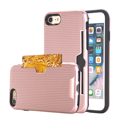 Buy For iPhone 8 & 7 Dream Network Dropproof Protective Back Cover Case with Card Slots (Rose Gold) for $2.17 in SUNSKY store