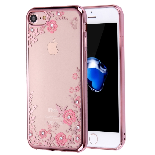 Buy For iPhone 8 & 7 Flowers Patterns Electroplating Soft TPU Protective Cover Case for $1.27 in SUNSKY store