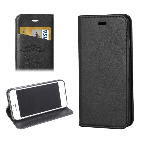 Buy For iPhone 8 & 7 Lambskin Texture Horizontal Flip Leather Case with Holder & Card Slots, Black for $3.42 in SUNSKY store