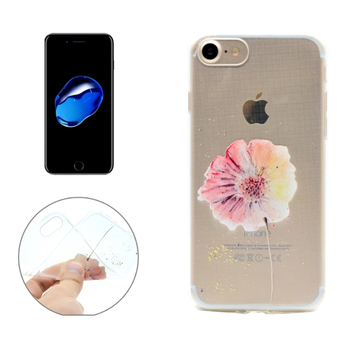 Buy For iPhone 8 & 7 Flower Pattern Transparent Soft TPU Protective Back Cover Case for $1.16 in SUNSKY store