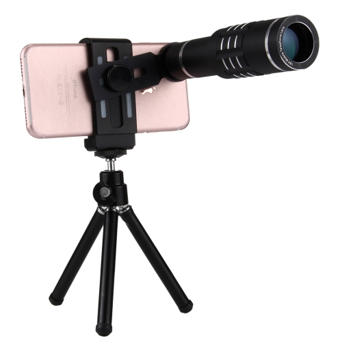 Buy Universal 18X Magnification Lens Mobile Phone 3 in 1 Telescope + Tripod Mount + Mobile Phone Clip for $19.60 in SUNSKY store