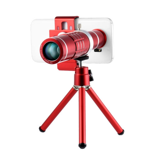 Buy Universal 18X Magnification Lens Mobile Phone 3 in 1 Telescope + Tripod Mount + Mobile Phone Clip for $21.07 in SUNSKY store