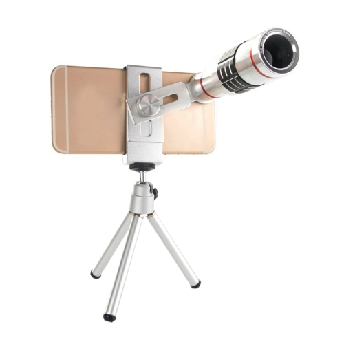 Buy Universal 18X Magnification Lens Mobile Phone 3 in 1 Telescope + Tripod Mount + Mobile Phone Clip for $21.08 in SUNSKY store