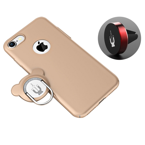 Buy AIQAA For iPhone 8 & 7 PC Dual-purpose Magnetic Protective Case with Ring Holder & Car Air Outlet Vent Holder, Gold for $4.88 in SUNSKY store