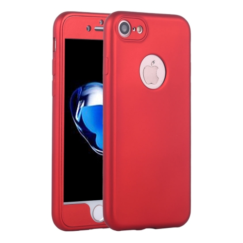 Buy For iPhone 8 & 7 360 Degree Shockproof Oil Spout Silicone Back Case + PC Cover Combination Protective Case, Red for $2.11 in SUNSKY store