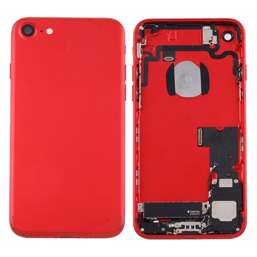 Battery Back Cover Assembly with Card Tray for iPhone 7 (Red) фото