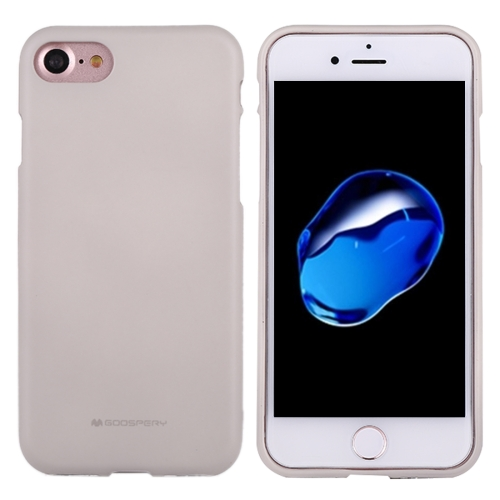 GOOSPERY SOFT FEELING for iPhone 8 & 7 Liquid State TPU Drop-proof Soft Protective Back Cover Case (Grey)