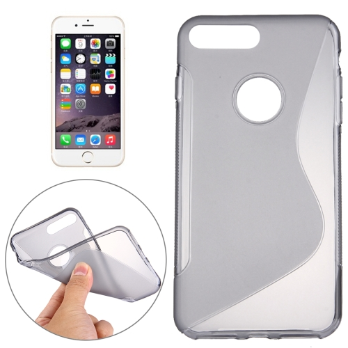 Buy For iPhone 8 Plus & 7 Plus S-Shaped Soft TPU Protective Cover Case, Grey for $1.19 in SUNSKY store