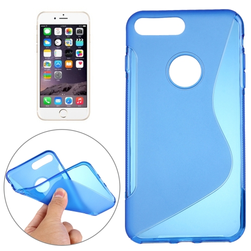 Buy For iPhone 8 Plus & 7 Plus S-Shaped Soft TPU Protective Cover Case, Blue for $1.19 in SUNSKY store