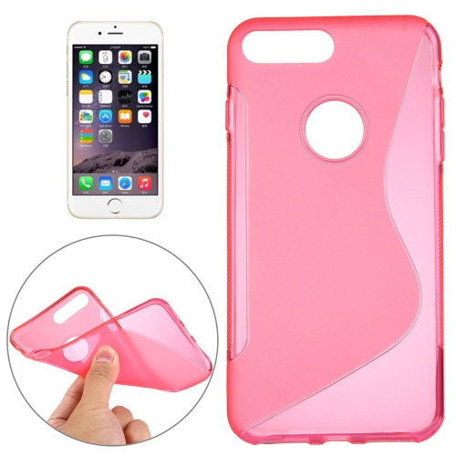 Buy For iPhone 8 Plus & 7 Plus S-Shaped Soft TPU Protective Cover Case, Magenta for $1.19 in SUNSKY store